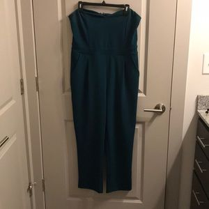 Express Emerald Green Full Body Jumpsuit